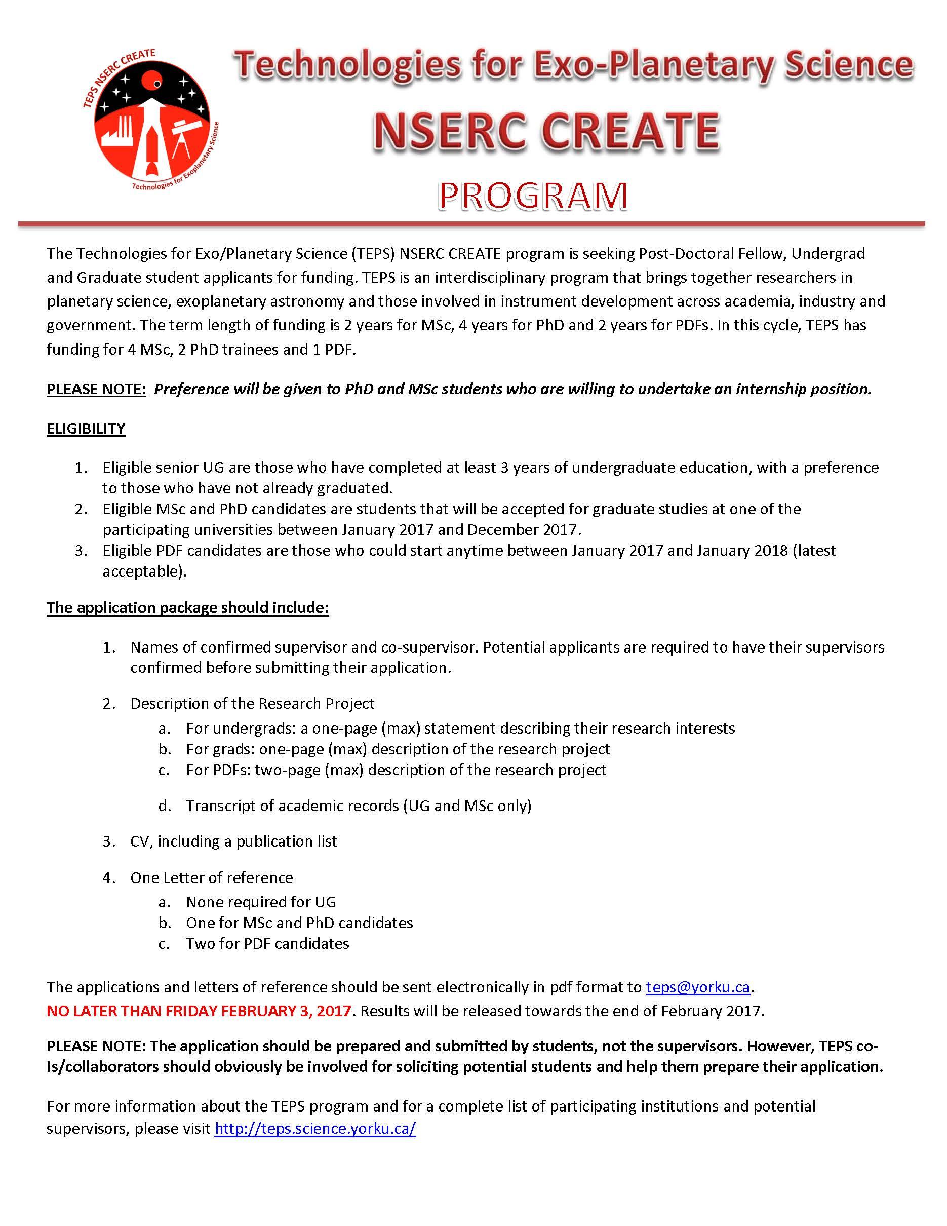 TEPS CAS Ad Program 2017